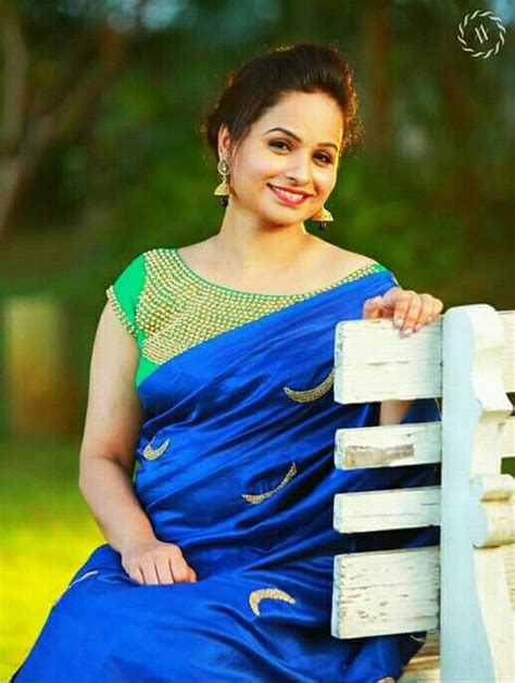 blue green combo saree blouse designs blouse neck