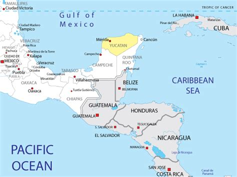 map  yucatan  mexico