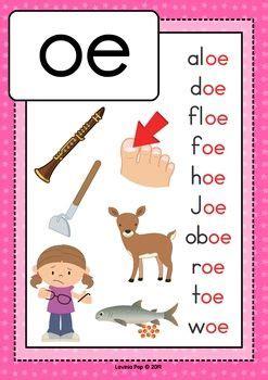 digraph vowel team oe phonics word work multiple