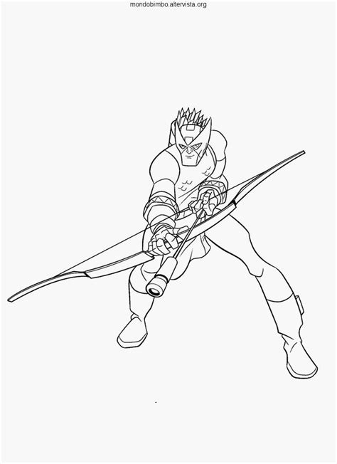 hawkeye avenjers free coloring pages