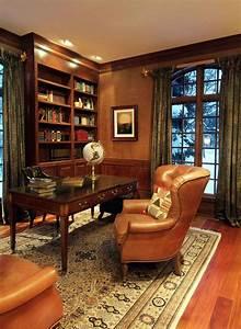 Home Office : 23 elegant masculine home office design ideas office paint pinterest cozy home office ~ Watch28wear.com Haus und Dekorationen