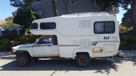 Toyota Motorhomes For Sale by 1987 Toyota 4x4 Sunrader 18ft Motorhome For Sale In