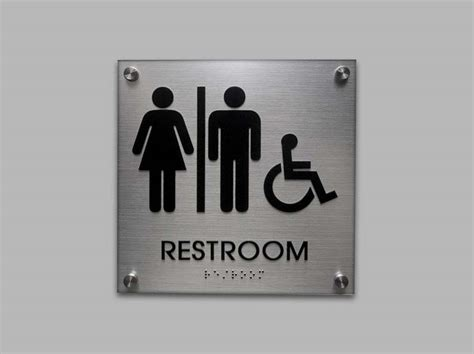 restroom signs  bathroom signs unisex signs