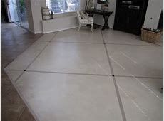 Painted Cement Floors With Cross Hatched Pattern Ideas For