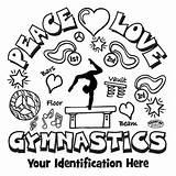 Gymnastics coloring page