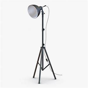 photo studio halogen floor lamp 3d 3ds With non halogen floor lamp