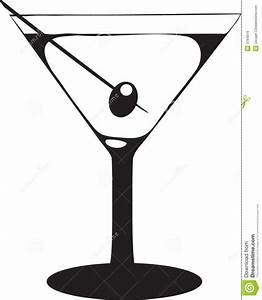 Martini Black And White Clipart - Clipart Suggest