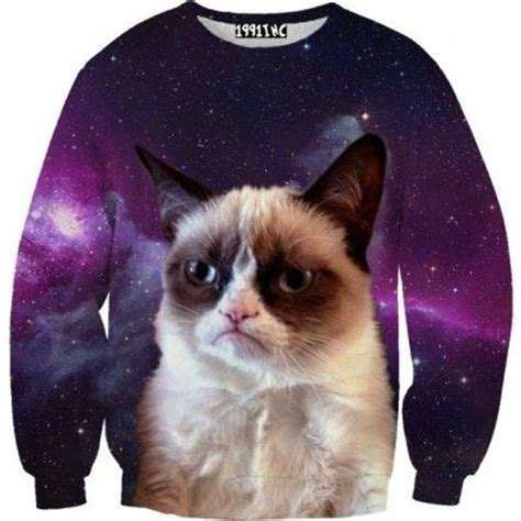 grumpy cat sweater grumpy cat galaxy sweater creepy cat clothing