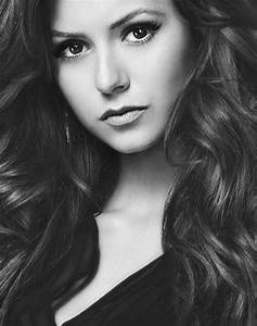 Nina Dobrev | Cine Black and white photos | Pinterest ...