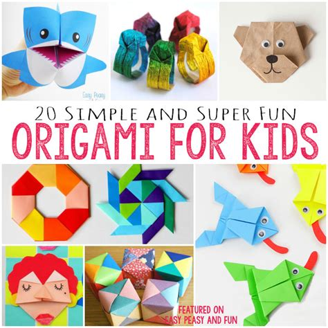 Free Coloring Pages 20 Cute And Easy Origami For Kids