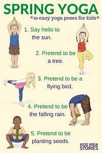 Yoga for Spring (Printable Poster | Yoga Poses | Easy yoga ...