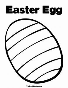 Free coloring pages of easter egg blank