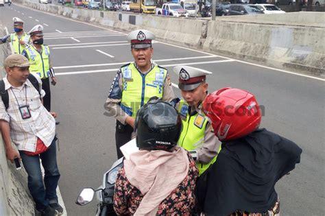 polisi kembali razia sepeda motor di jlnt casablanca