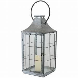 Grande Lanterne Deco : grande grosse lanterne en m tal fer zinc 58 cm lanterne d 39 ~ Teatrodelosmanantiales.com Idées de Décoration