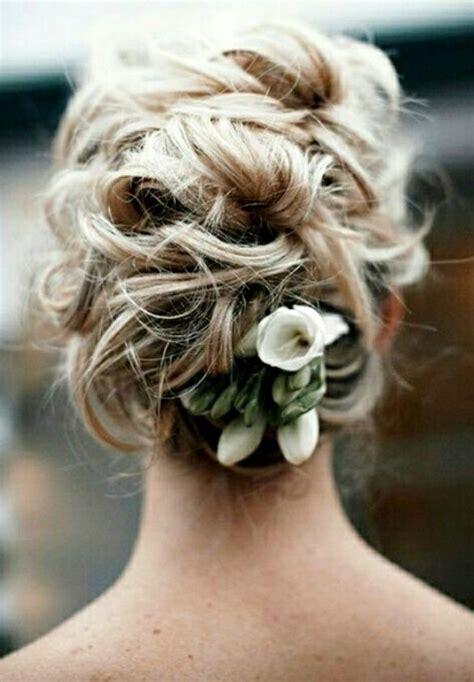 Brides Messy Bun Wedding Hairstyle Wedding Hair Styles
