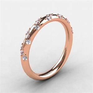 French Bridal 10K Rose Gold Diamond Wedding Band R185B