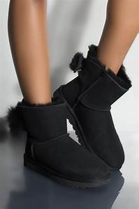 Ammo Size Chart Ugg Classic Mini Fluff Bow Boot In Black