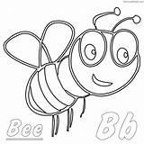Coloring Bee Bumblebee Sheets Bumble Cartoon Coloringfolder sketch template