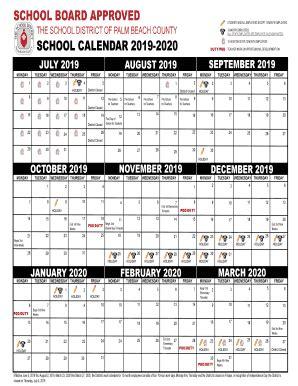 fillable school calendar fax email print pdffiller