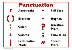 Before anything else - Punctuation