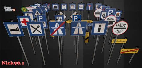 street signs set    fs  farming simulator