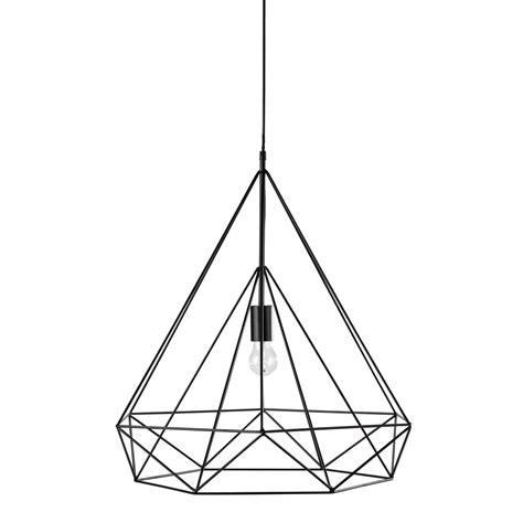 luminaire chambre fille suspension en métal noir d 60 cm iron maisons du monde