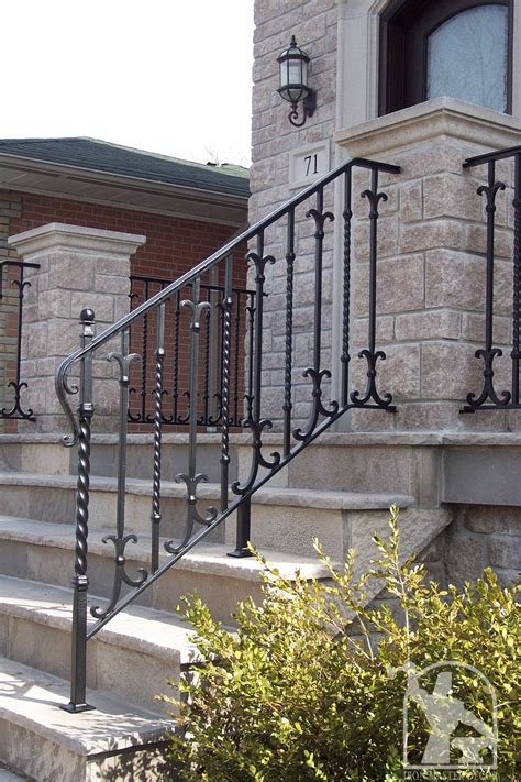 Ready to ship in 1 business day. Wrought Iron Exterior Railings Photo Gallery | Iron Master