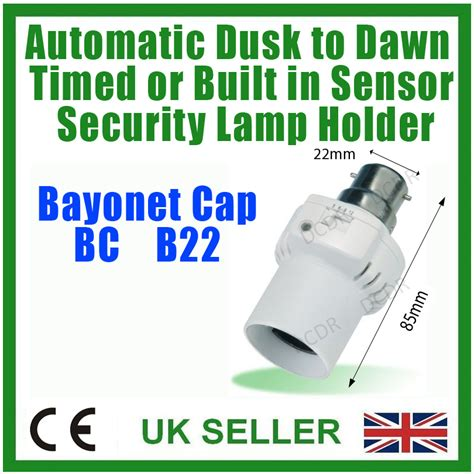 dusk till dawn security light automatic security dusk till dawn timed bulb holder ebay