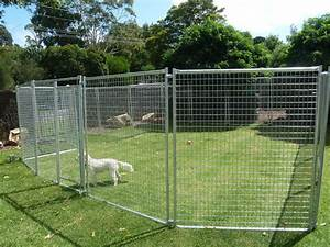 Large chain link metal dog kennel crate outdoor pet house for Large outdoor dog fence