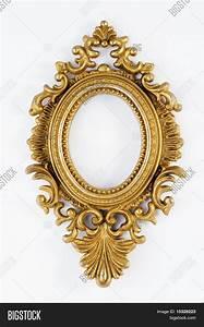 Gold ornate oval frame Stock Photo & Stock Images | Bigstock