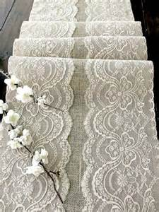 lace tablecloths for weddings wedding table runner with beige lace rustic chic wedding tablecloth burlap and lace table