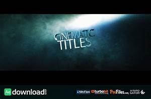 Cinematic title videohive project free download free after effects template videohive for After effects titles templates
