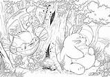 Coloring Totoro Pages Ghibli Studio Anime Neighbor Para Colouring Colorir Desenhos Printable Sheets Animais Desenho Floresta Colorear Adultos Ponyo Miyazaki sketch template