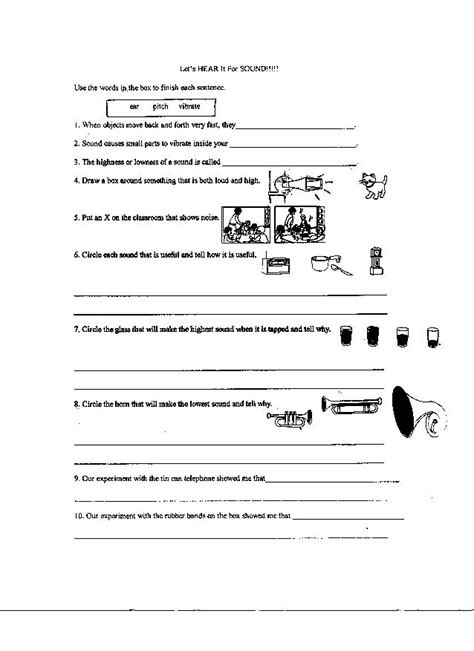 14 best images of science worksheets elementary