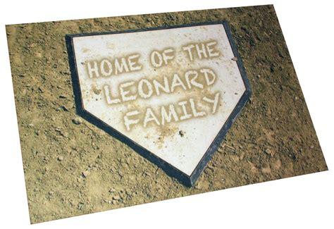 Baseball Doormat by Personalized Home Plate Baseball Door Mat Custom Doormat