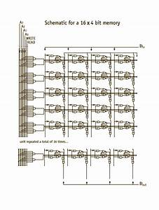 16 By 4 Bit Memory Schematic