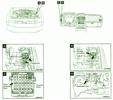 2002 mitsubishi montero fuse box diagram circuit wiring diagrams