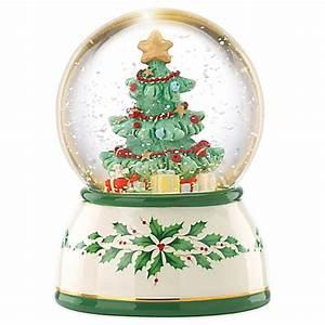 Lenox® Seasons Celebrations Tree Lit Musical Snow Globe ...