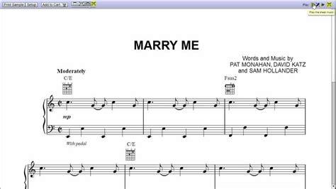 train marry me piano sheet music teaser youtube