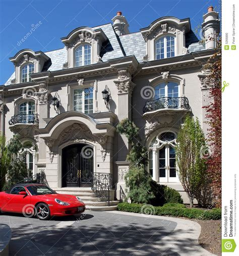 house plans for mansions baroque chateau stock photo image of driveway
