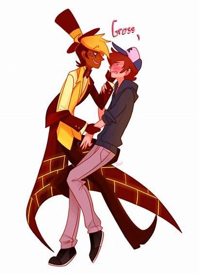 Dipper Bill Cipher Falls Pines Kiss Gravity