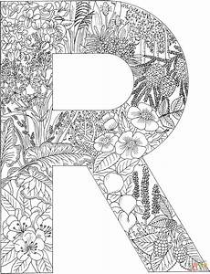 Letter R With Plants