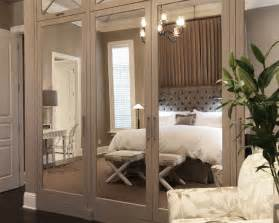 mirrored closet doors transitional bedroom wolfe