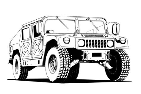 Humvee Lineart By Thieres On Deviantart