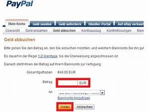 Wie Bezahle Ich Mit Paypal : geld von meinem paypal auf mein konto berweisen techfrage ~ Watch28wear.com Haus und Dekorationen