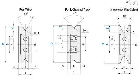 guide rollers  groove    degree sheave type misumi misumi misumi