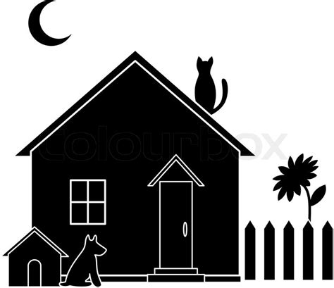 Kleines Haus , Silhouette  Vektorgrafik Colourbox