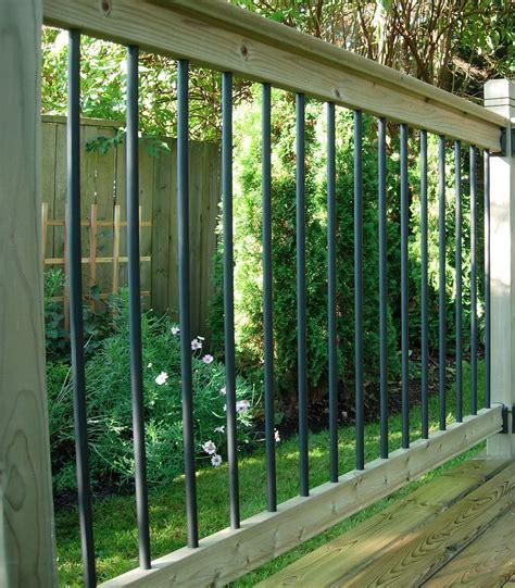 banister kits traditional deck railing kit vista railing systems