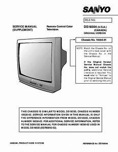 Sanyo Ds19204 Service Manual Download  Schematics  Eeprom