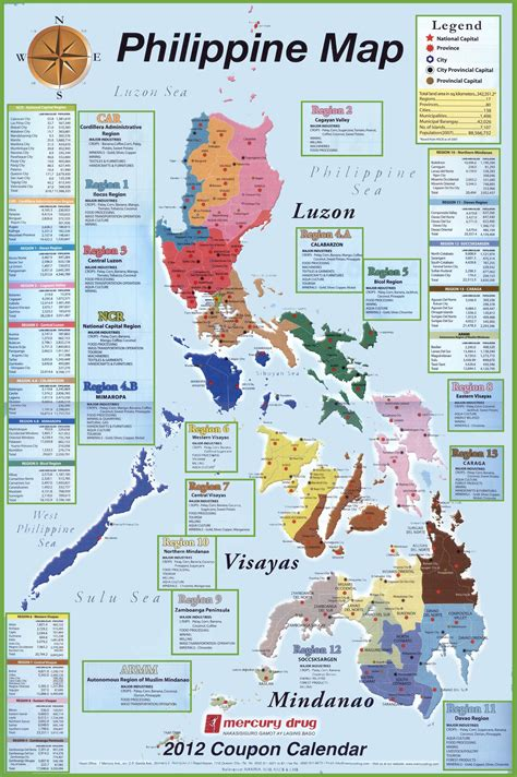 map philippines  travel information   map